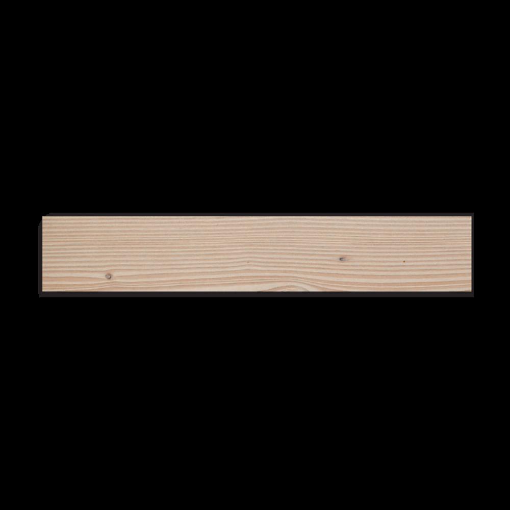 Accessoire Profil Plinthe Douglas Massif Bord Droit Brut - Fsc 23x60