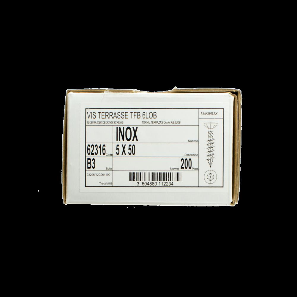 Vis Inox A2 Torx (boite de 200 )