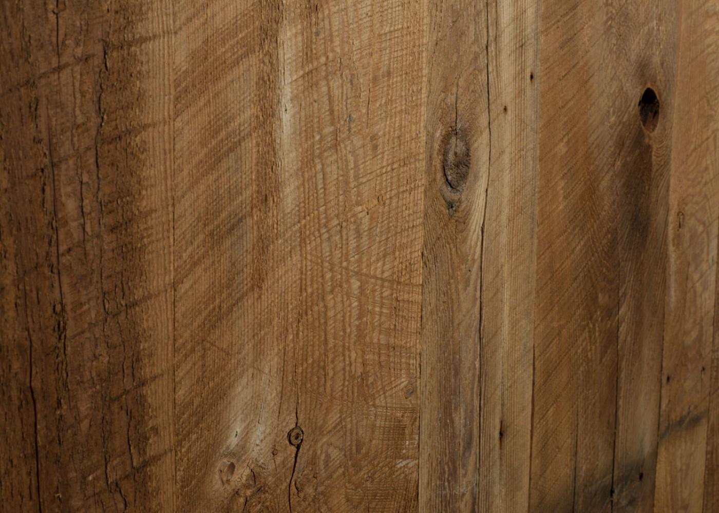 Panneau 3 plis bois us campagne vieilli marron brossé brut - 1 face plaquee - fsc 1 face plaquée 1 face plaquée