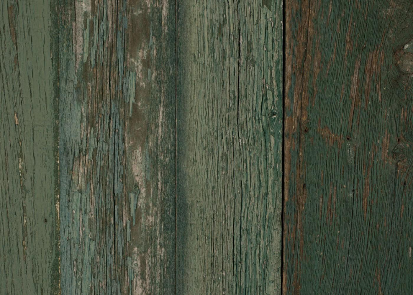 Bardage Monolame Bois Us Déligné Raboté Campagne Vieilli Peinture D' Origine Vert Léger 30x300x4500