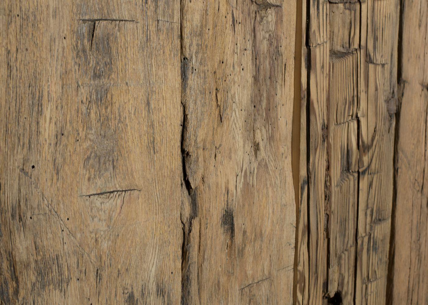 Bardage Vieux Bois Madrier Déco Vieilli Taillé à La Hache Brut