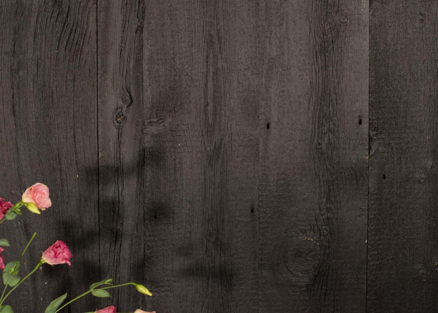 Bardage Monolame Bois Us Déligné Raboté Campagne Vieilli Peint Noir Dense Peinture d'Aujourd'hui