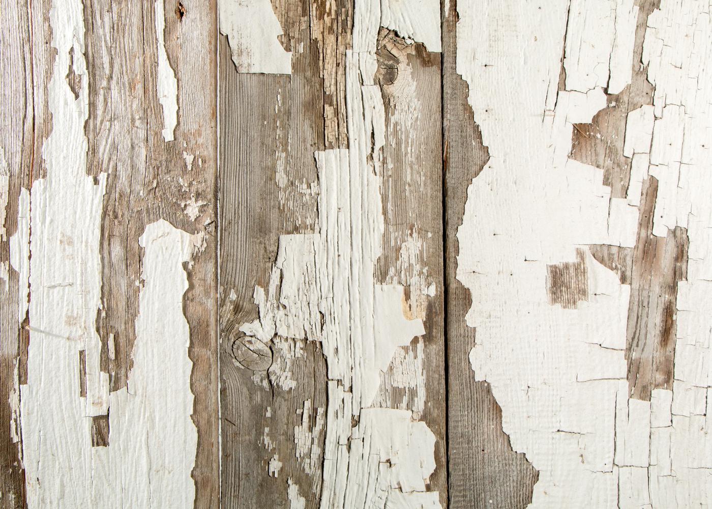 Bardage Monolame Bois Us Chant Ancien Campagne Vieilli Peinture d'Origine Blanc Léger - Chant Ancien ou Déligné