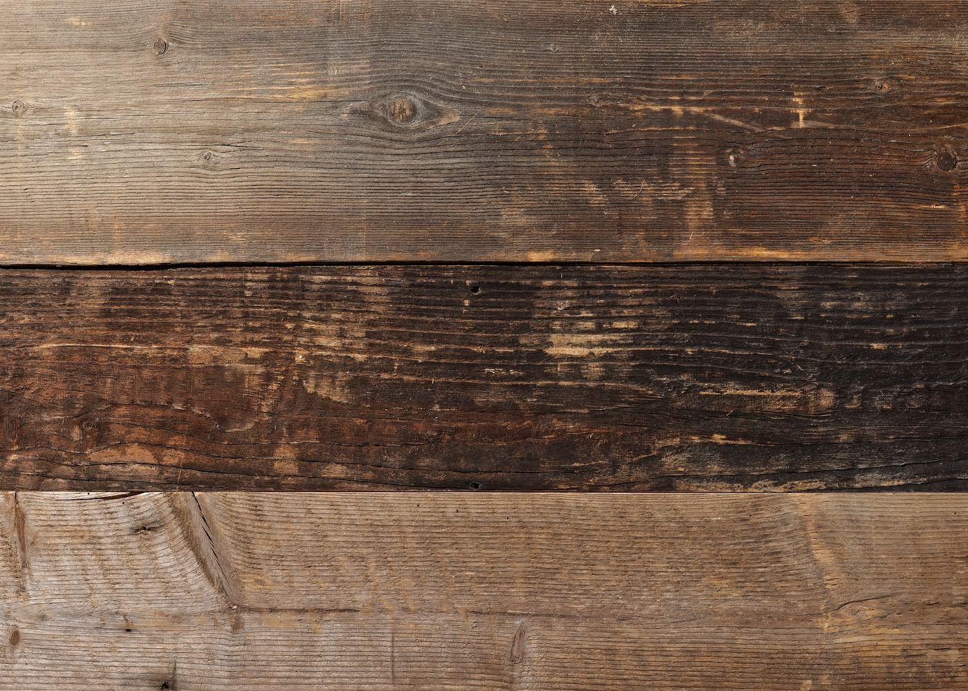 Bardage bois européen chant anciens campagne vieilli Marron Clair Brossé brut - fsc 15-30x100-300x2000-4000