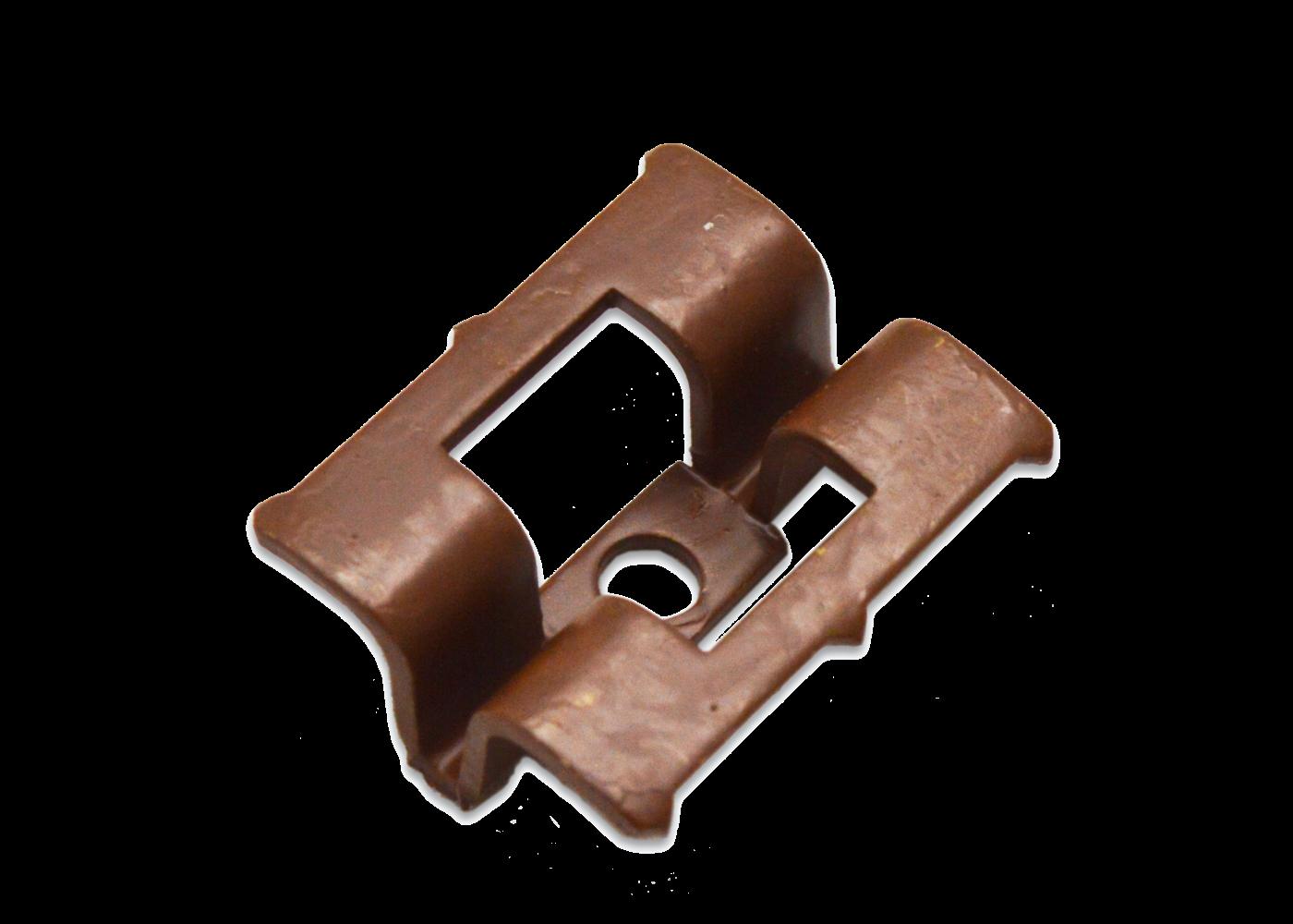 Clip acier inox brun pour terrasse Bambou fixation invisible + vis x90