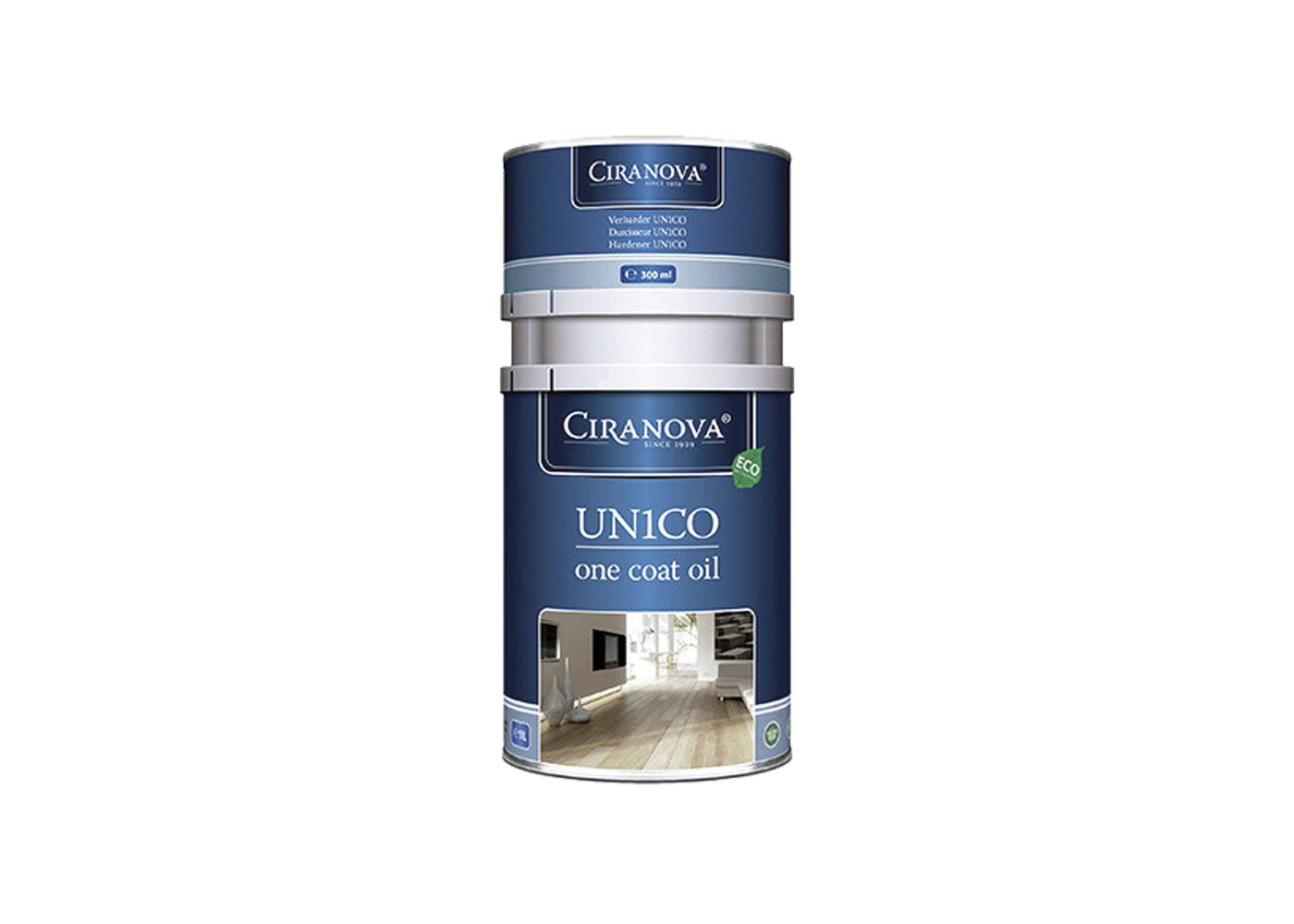 Huilé teintée UN1CO Ciranova monocouchebi-composant environnementale