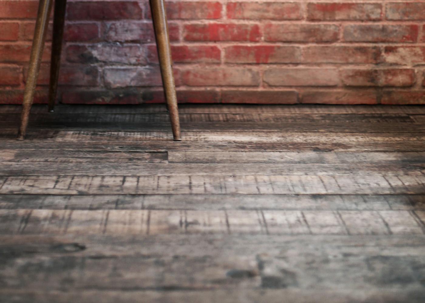 Plancher Massif Chêne Rives Abimées Campagne Vieux Fond De Wagon Origine Brut