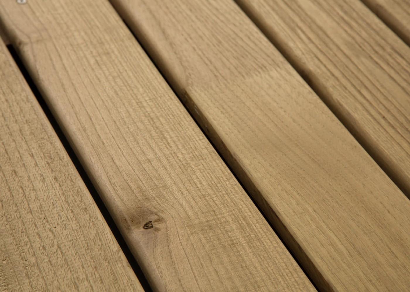 Lame Terrasse Acacia Choix Courant à Visser ou Fixation Invisible 1 Face Lisse / 1 Face Antidérapante Profil Peigné