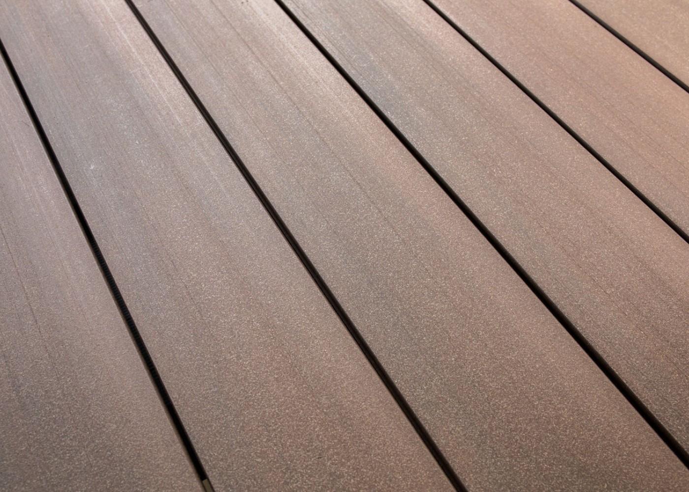 Lame Terrasse Bois Composite Teinte Emotion Equateur Lisse Fixation Invisible lisse 23x138x4000