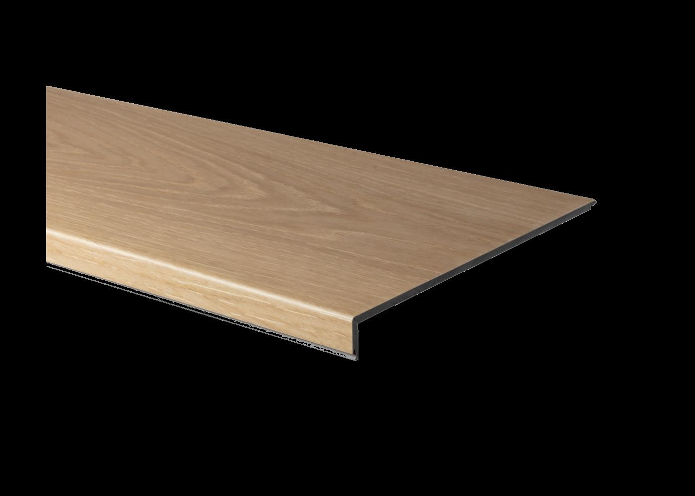 Profil d'escalier en L HDF hydrofuge pour sol vinyle rigide