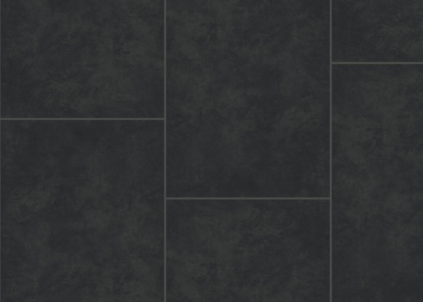 Vinyle rigide Béton Caviar passage commercial 4.5x600x900