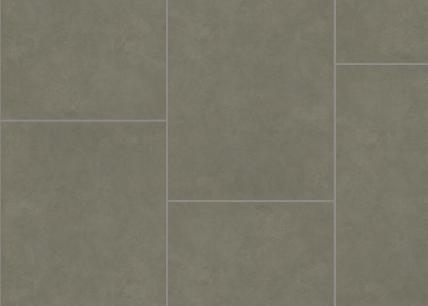 Vinyle rigide Béton Huître passage commercial 4.5x600x900