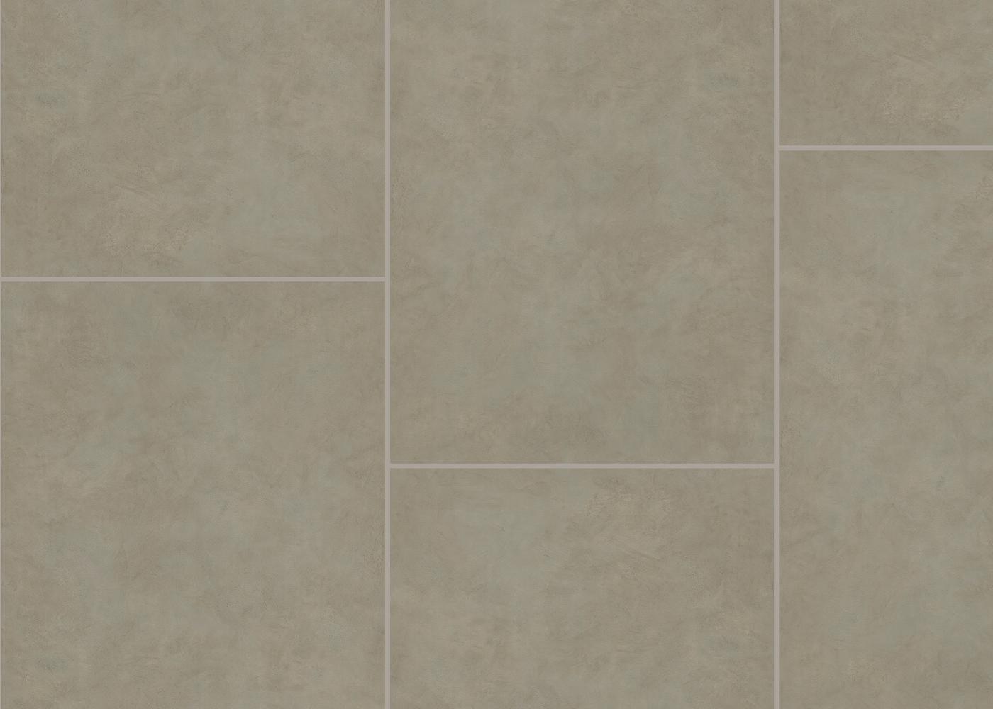 Vinyle rigide Béton Sel de Mer passage commercial 4.5x600x900