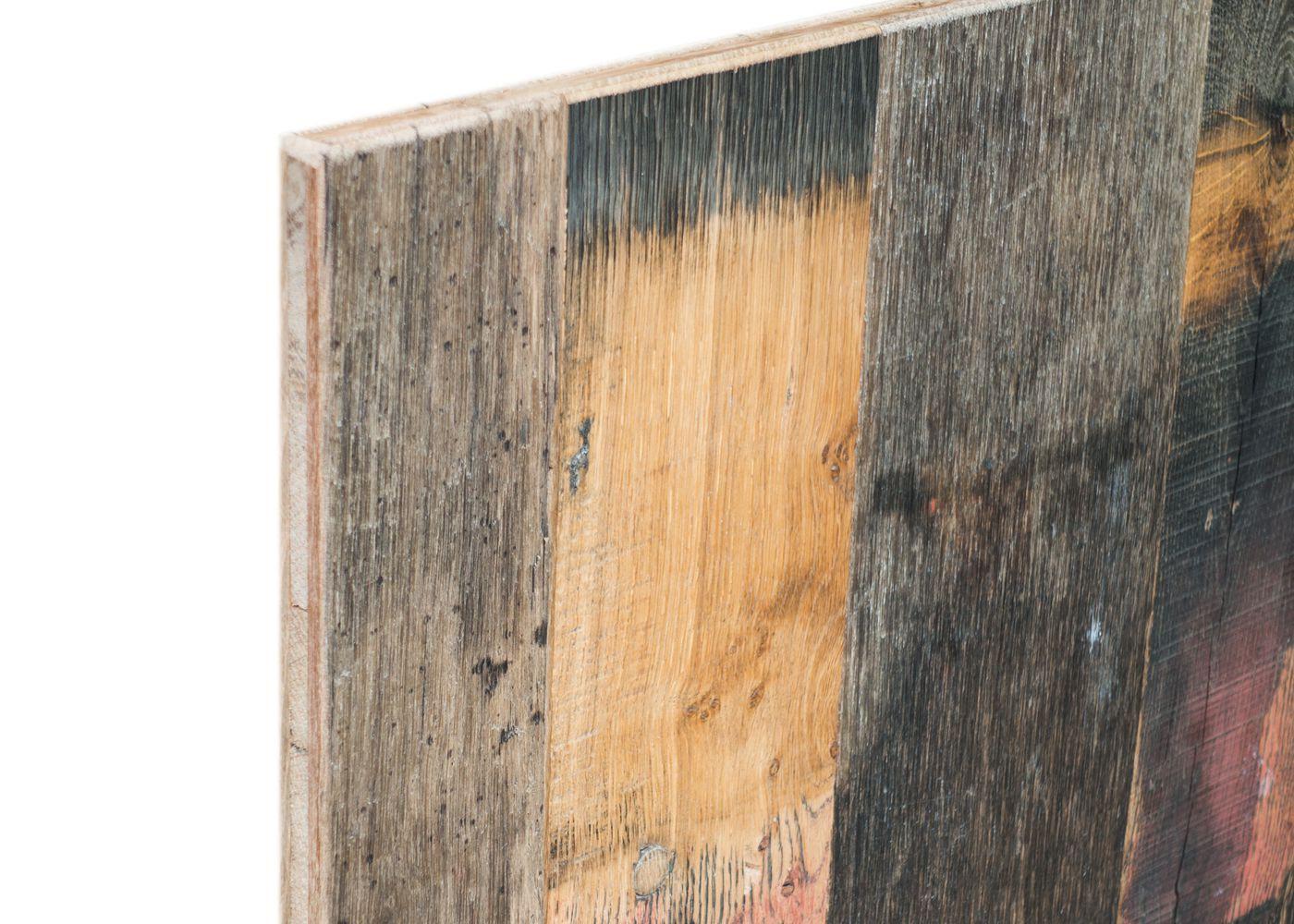 Panneaux 3 plis campagne vieilli Fond de Wagon Baden brut FSC 1 face plaquée 25x1220x2470