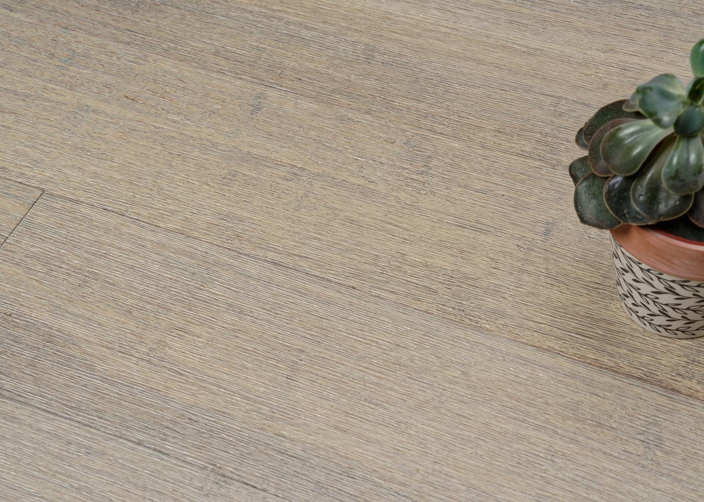 Parquet bambou contrecollé Café densifié brossé vernis blanc 10x125x920