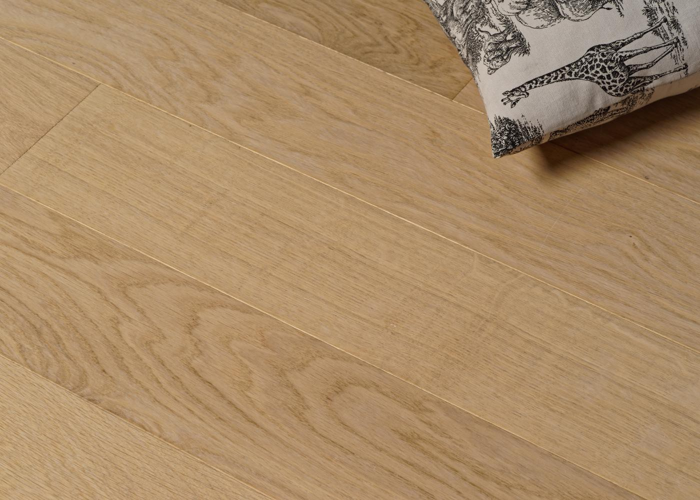 Parquet chêne contrecollé CÔME brossé vernis mat Select support HDF 10x92x1420