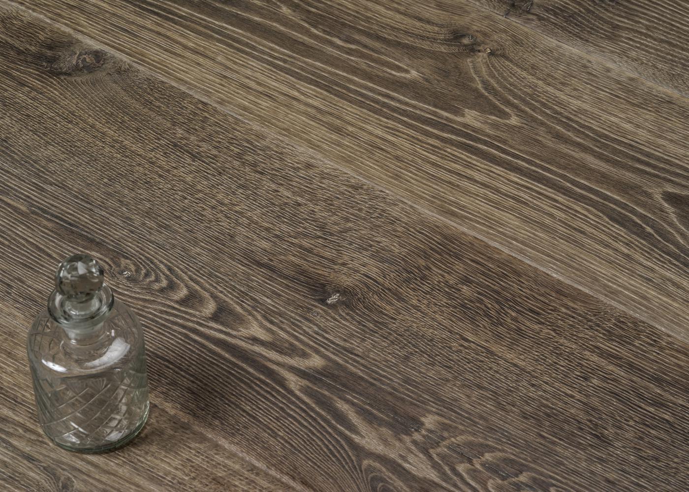 Parquet chêne contrecollé CANARIES usé brossé huile aqua 20-22x140/180/220x1800-2700
