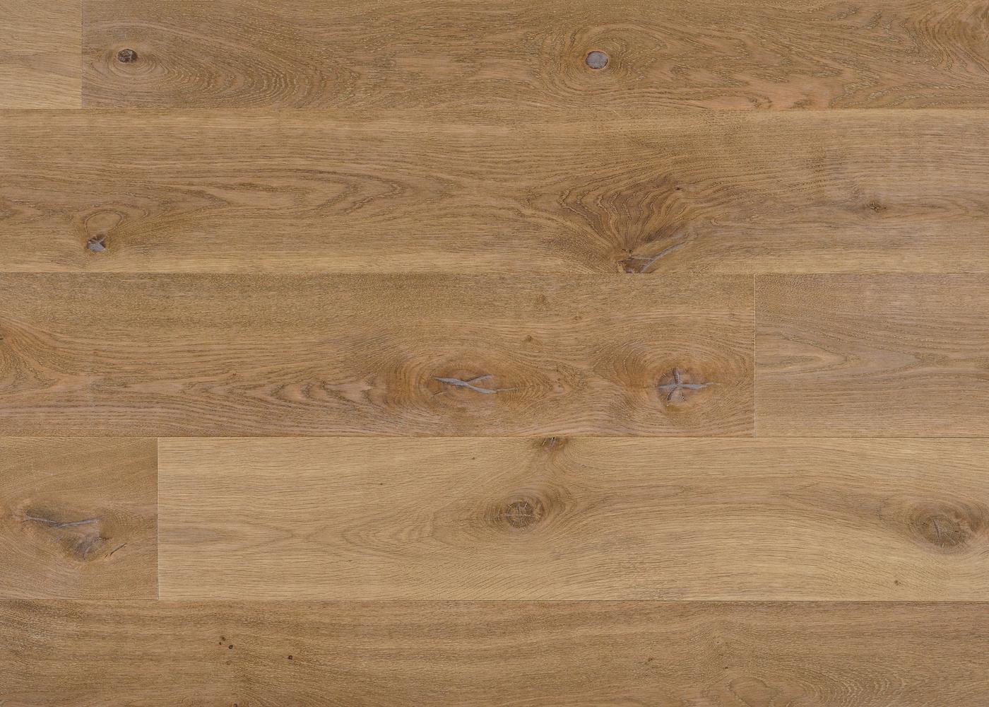 Parquet chêne contrecollé LAMARCK brossé huile UV Matière support HDF 10x92x1420