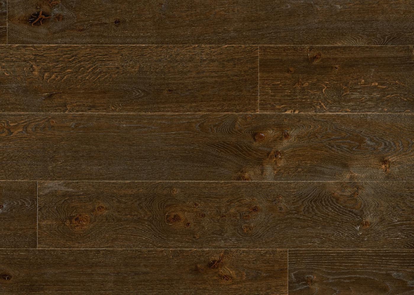 Parquet chêne contrecollé REUILLY brossé huile UV Matière support HDF 10x122x1190