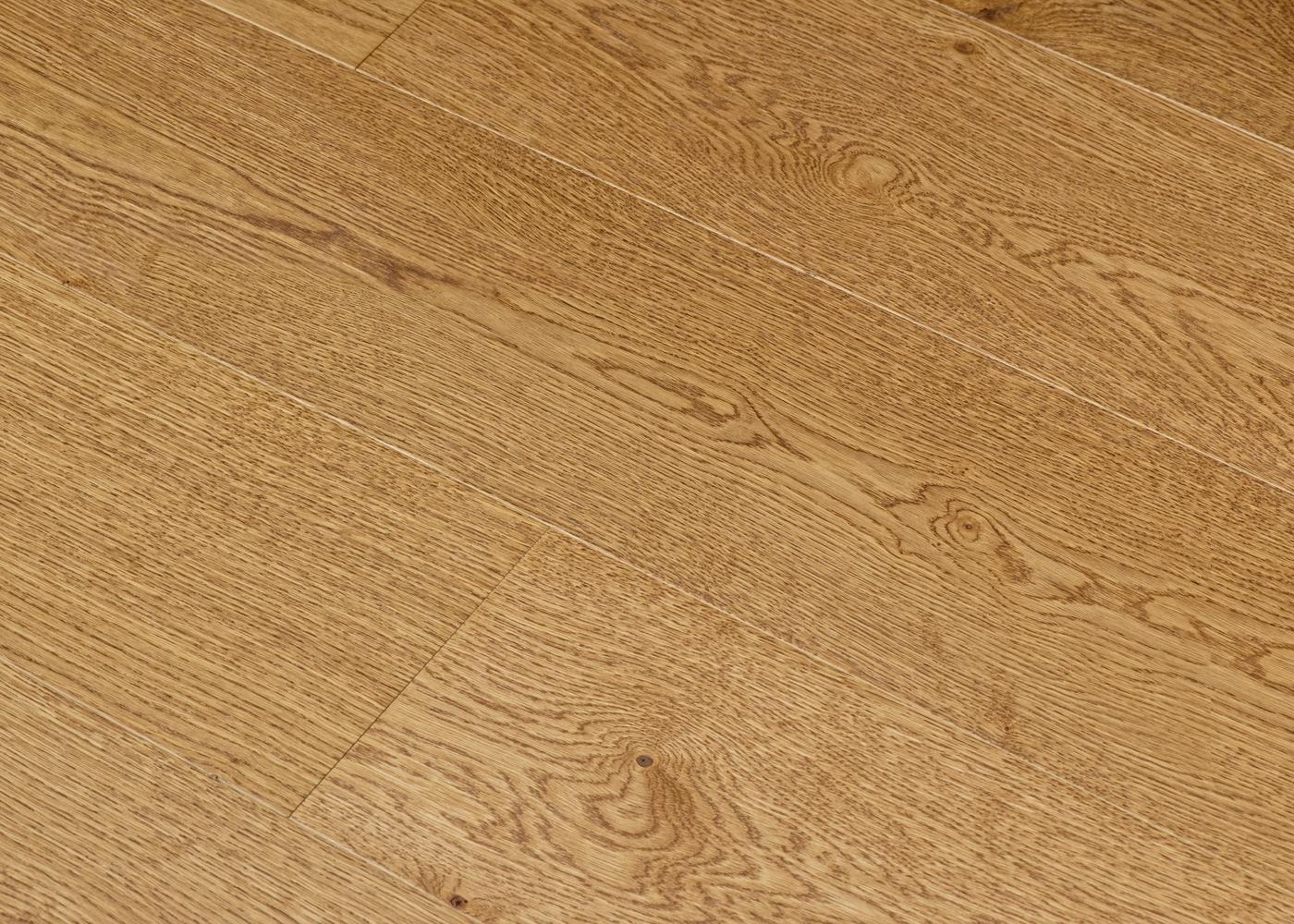 Parquet chêne contrecollé NOCI brossé vernis Select support HDF 10x92x1420