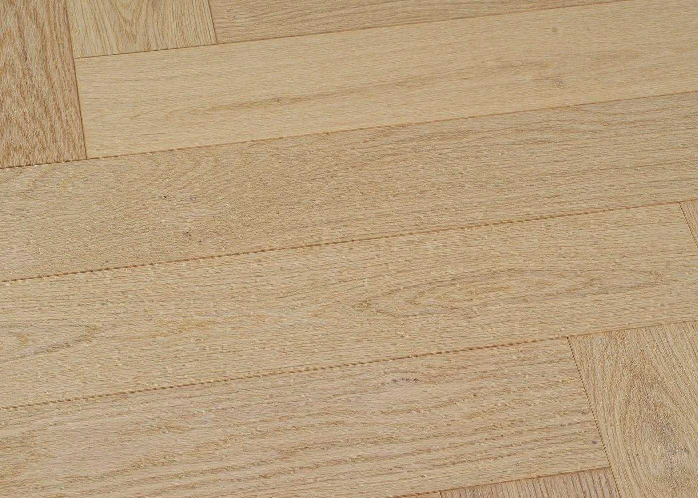 Parquet chêne contrecollé BRUT Bâton Rompu Select support HDF 10x92x610