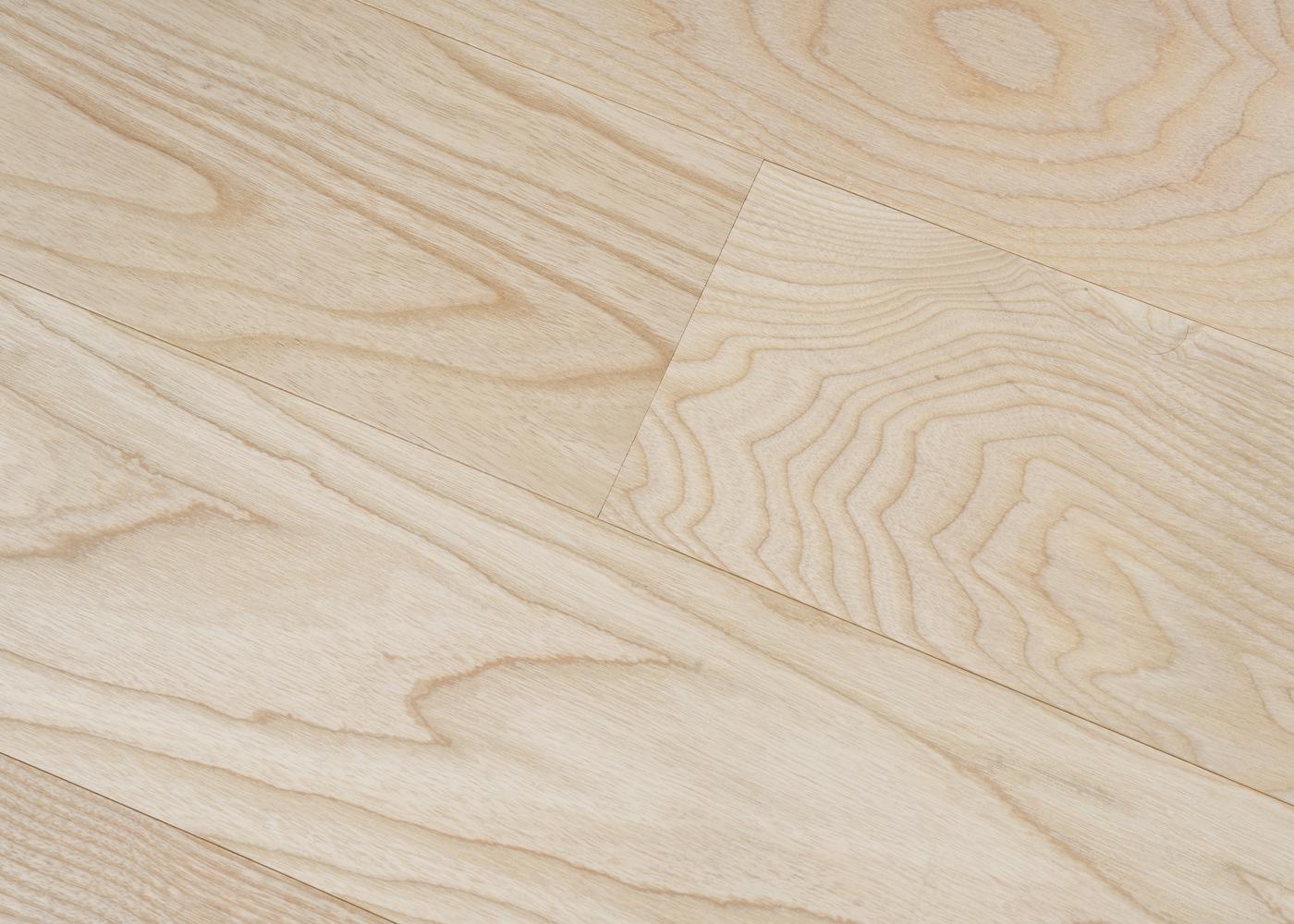 Parquet frêne massif Blanc Brut Premier NF G2 23x140x600-2000