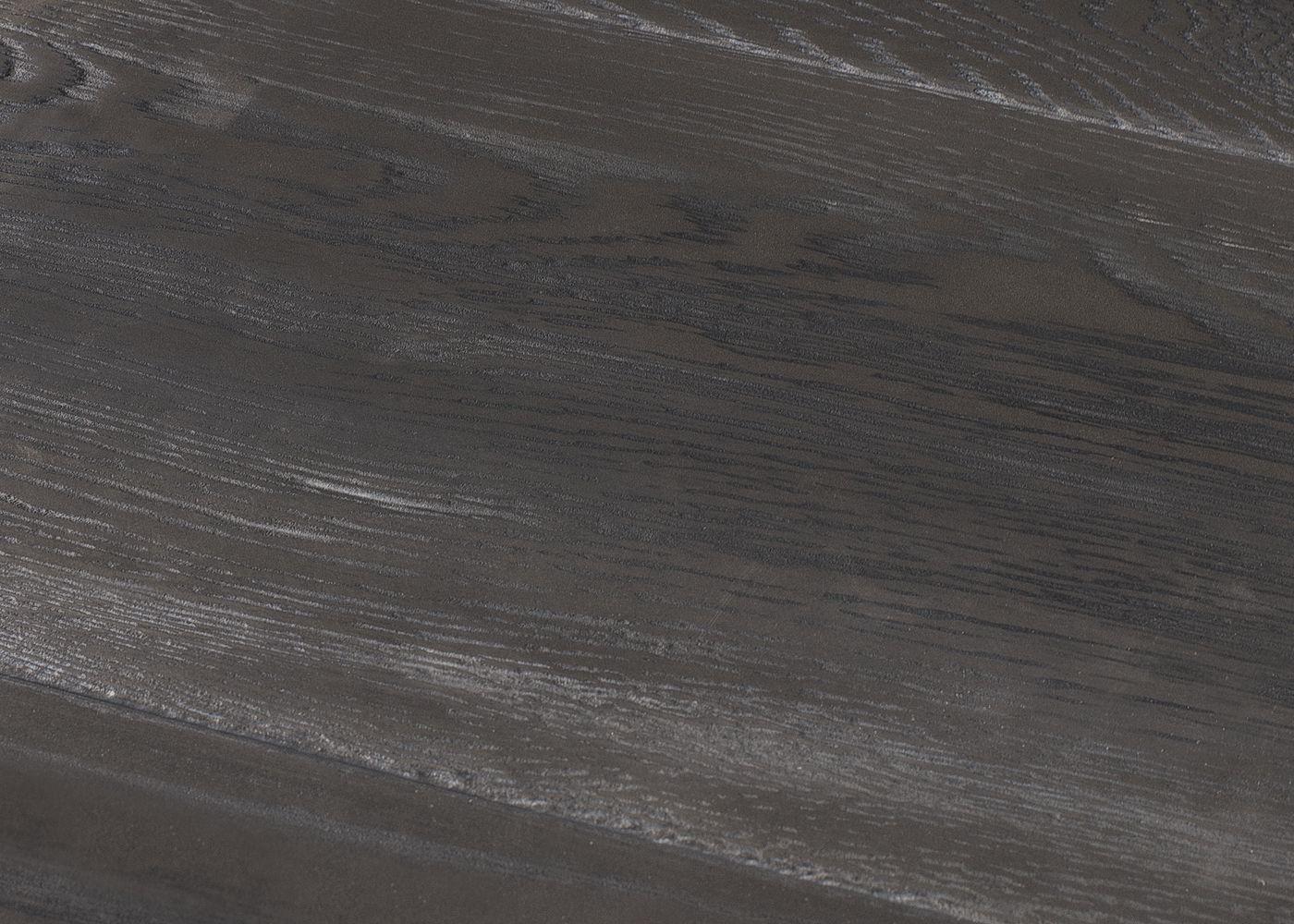 Parquet Contrecollé Monolame Chêne G2 Brossé Métal Argenté Pefc, Contemporain ou Vieilli avec ou sans Veignage Noir