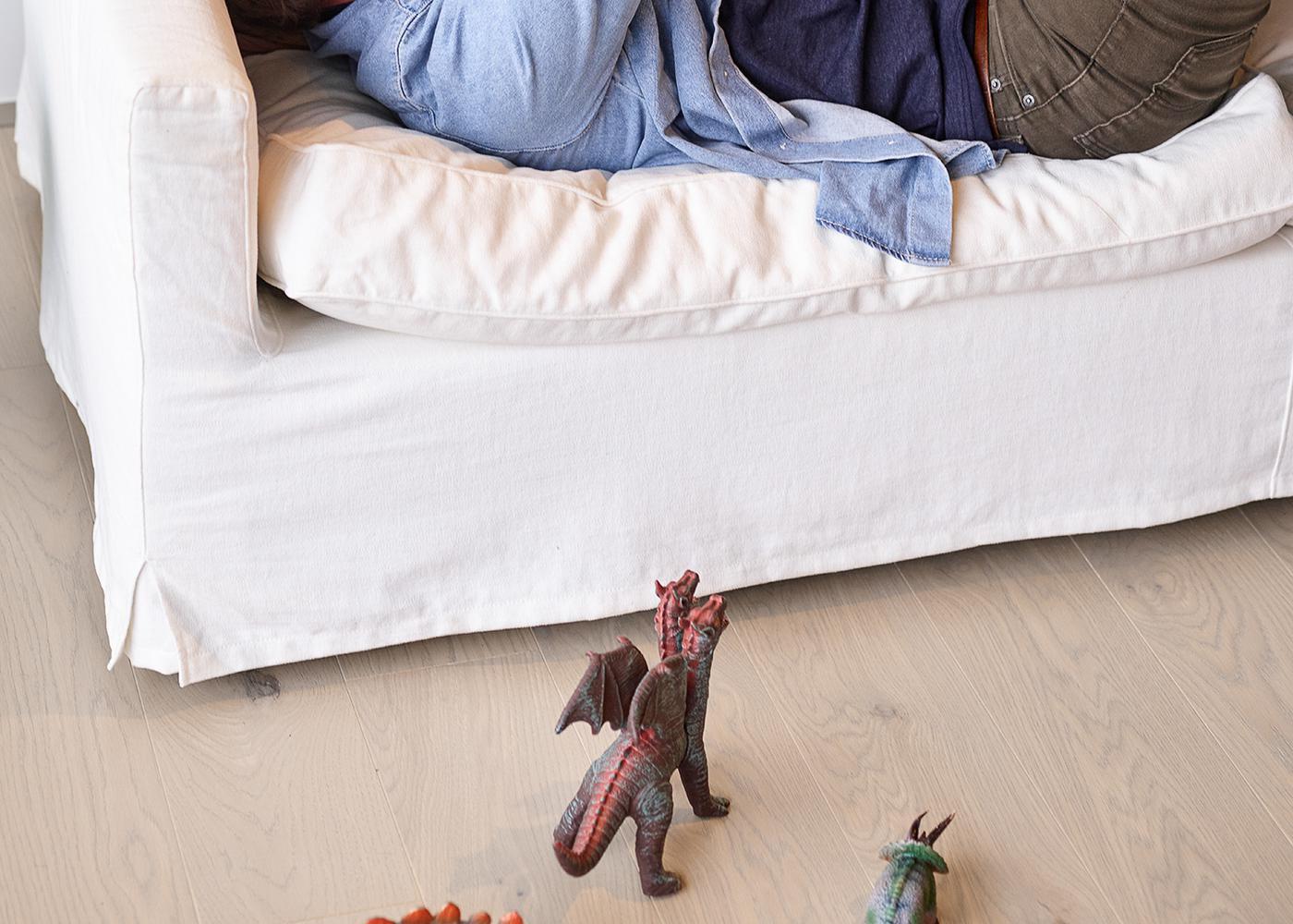 Sol plaqué bois Chêne Catane brossé vernis extra-mat - Deluxe - Elégance 12x166x1810