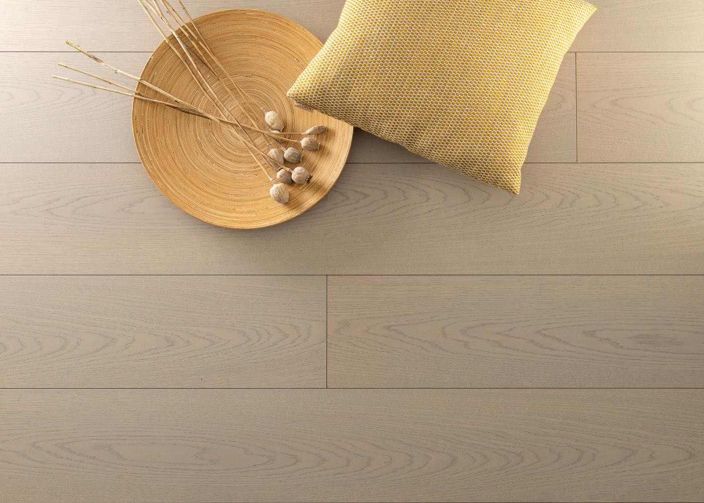 Sol plaqué bois Chêne DINARD brossé vernis extra-mat - Summit - Select 10x233x2050