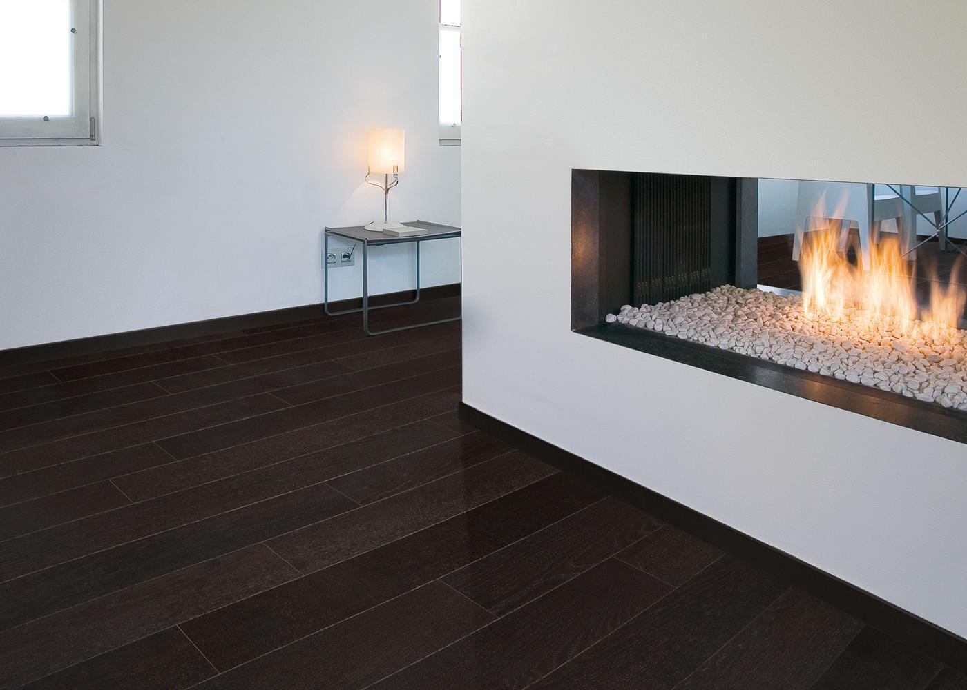 Sol plaqué bois chêne Londres brossé vernis extra-mat - Deluxe - Select 12x166x1810
