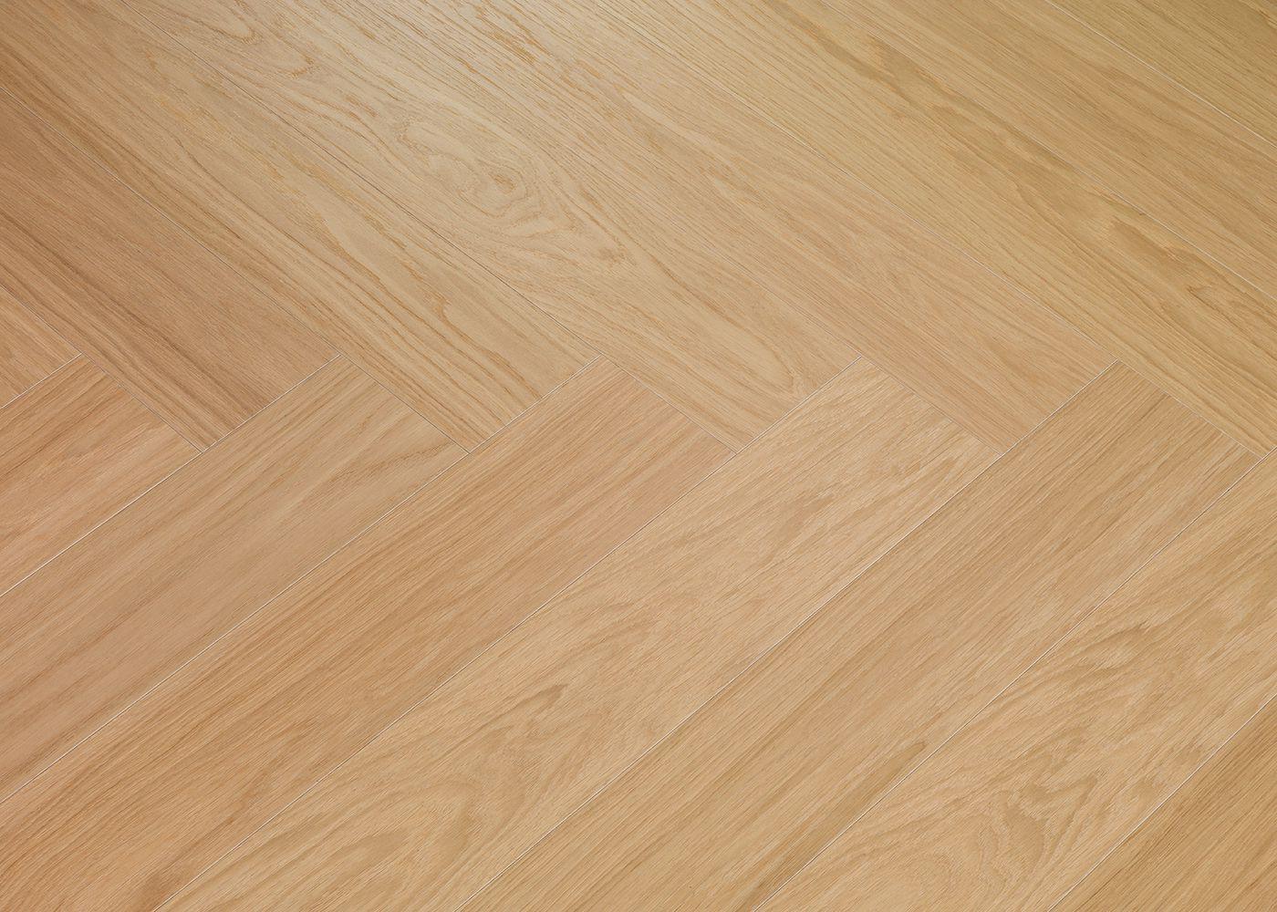 Sol plaqué bois chêne Côme Bâton rompu brossé vernis mat - Swing - Select 10x121x595 Lame Gauche