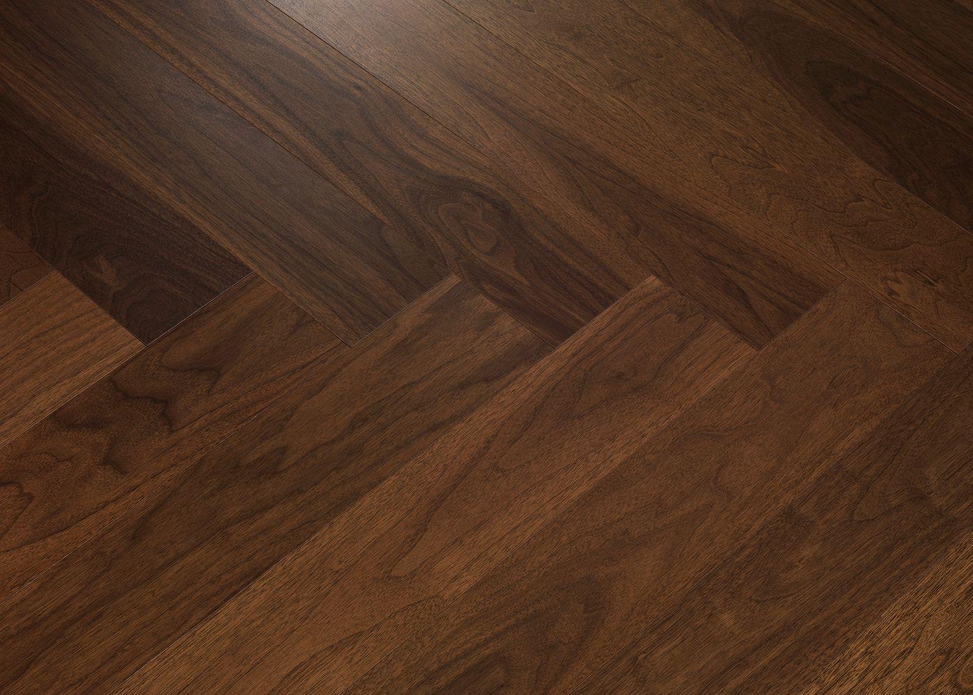 Sol plaqué bois Chêne NOYER brossé vernis extra-mat - Swing - Select 10x121x593