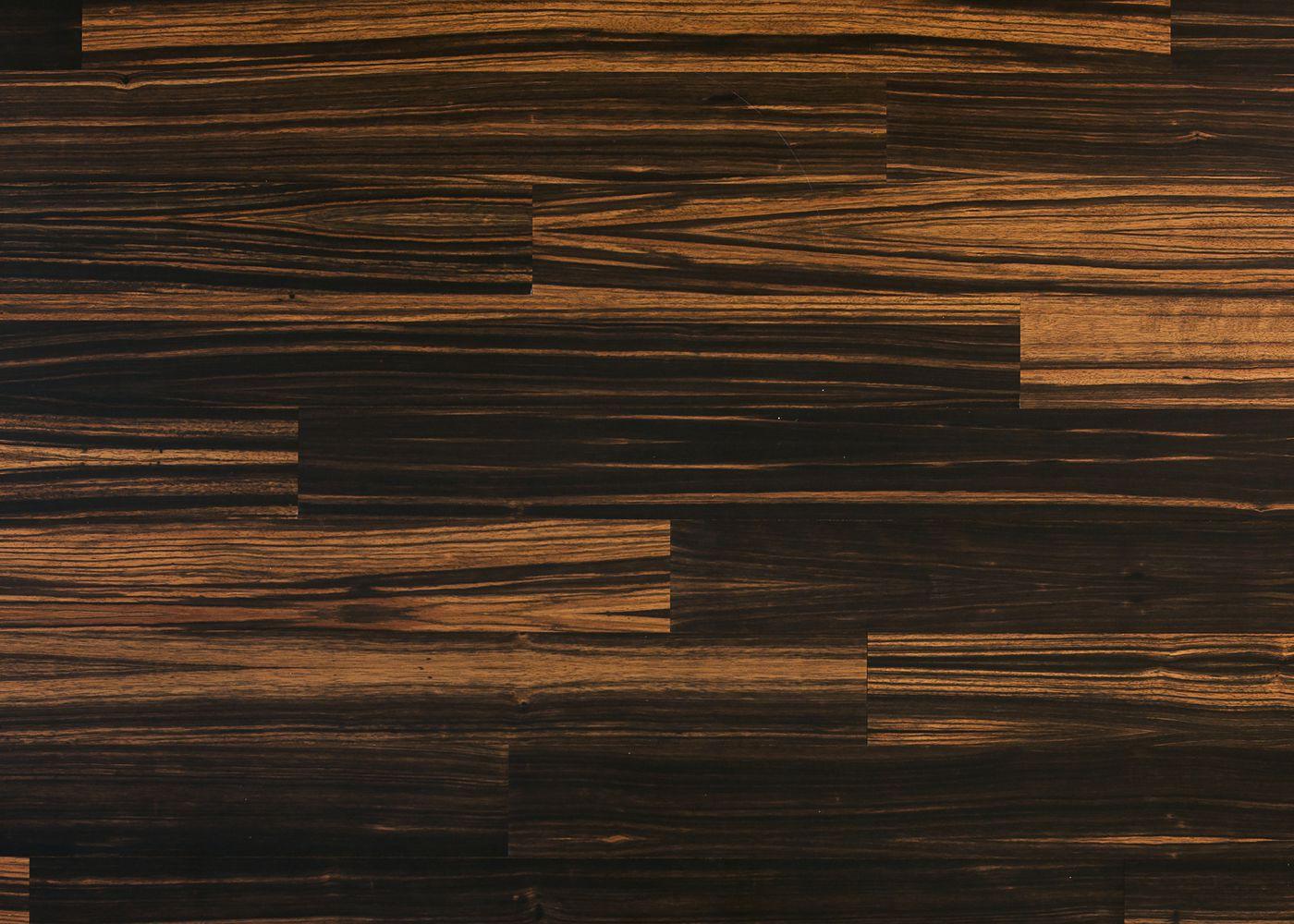 Sol plaqué bois Ébène de Macassar vernis satiné - Lounge - Select 8x124x1203