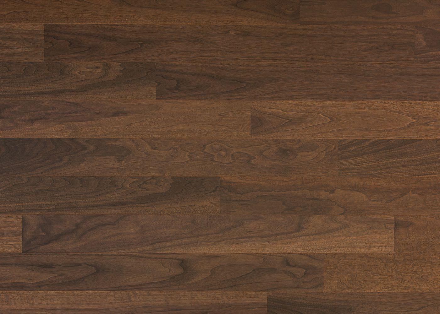 Sol plaqué bois Noyer brossé vernis extra-mat - Lounge - Select 8x124x1203