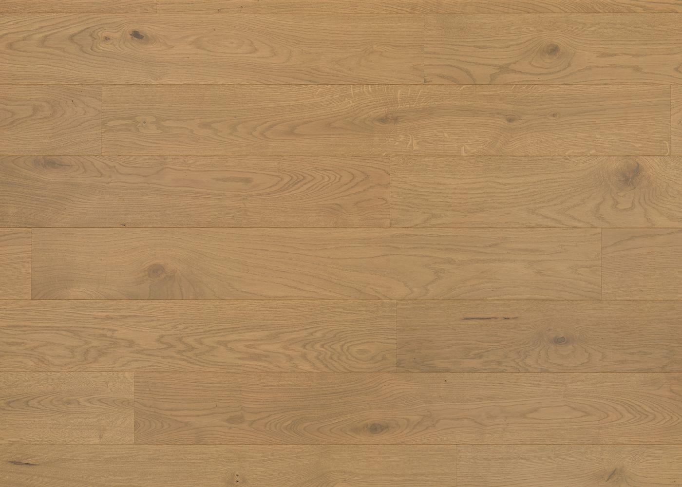 Sol plaqué bois Chêne Vienne brossé vernis extra-mat - Deluxe - Elégance 12x166x1810