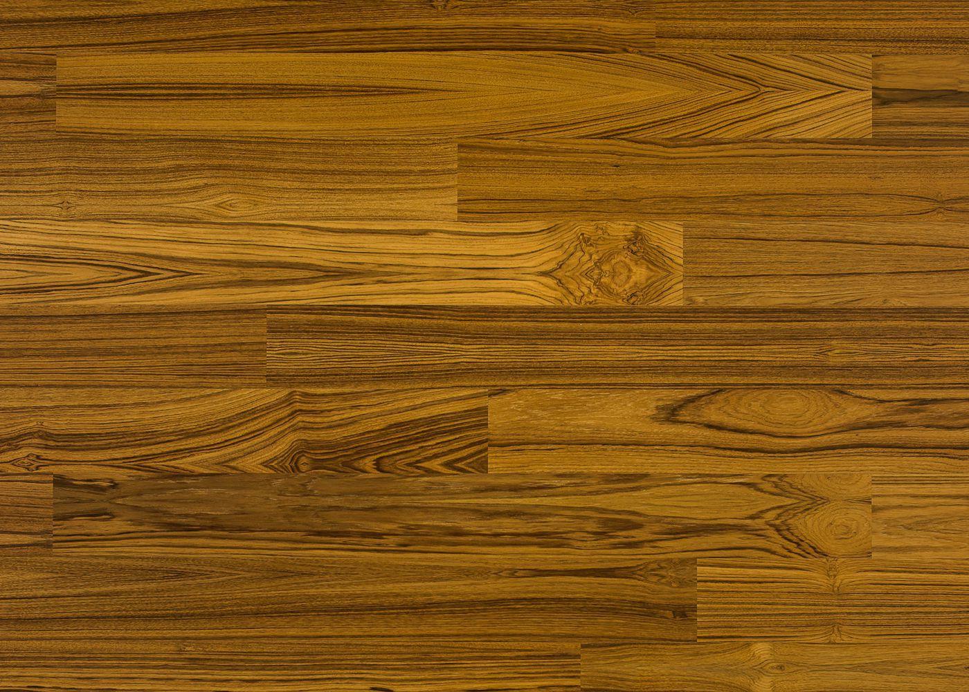 Sol plaqué bois Teck vernis satiné - Lounge - Select 8x124x1203