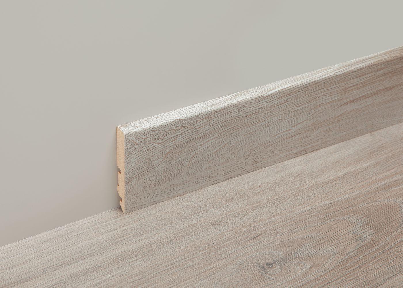 Accessoire profil melamine plinthe basse 60mm - longueur: 2400mm - PEFC Erable Gris
