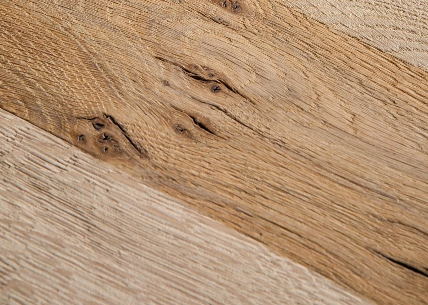 Banc en bois AMSTERDAM à partir de chêne ancien naturel brossé brut