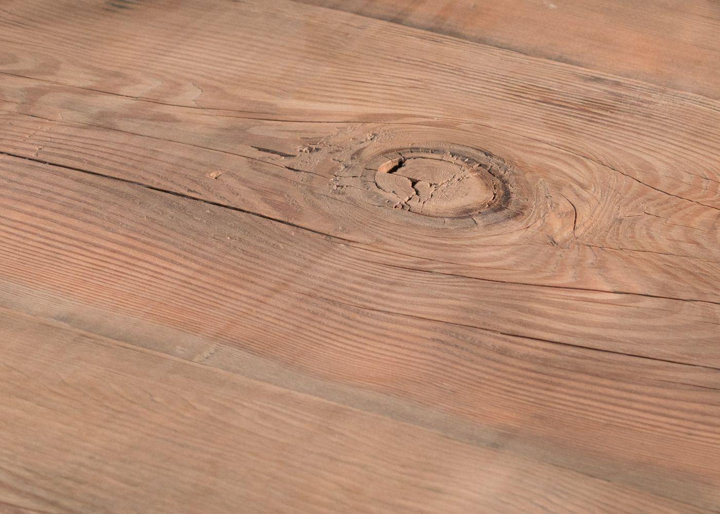 Banc en bois HEIDELBERG à partir d'ancienne poutre douglas brut - (qualité rustique avec présence de noeuds)