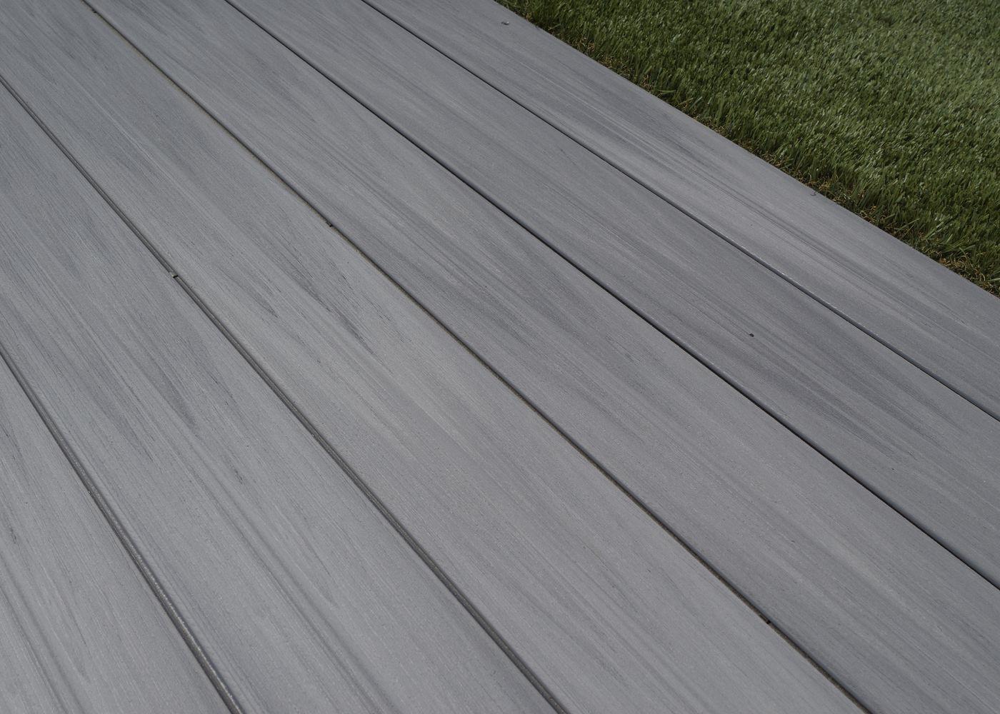 Incroyable Lame De Terrasse Bois Composite Co Extrudé Brossé PEFC Gris Ushuaia  23x138x4000