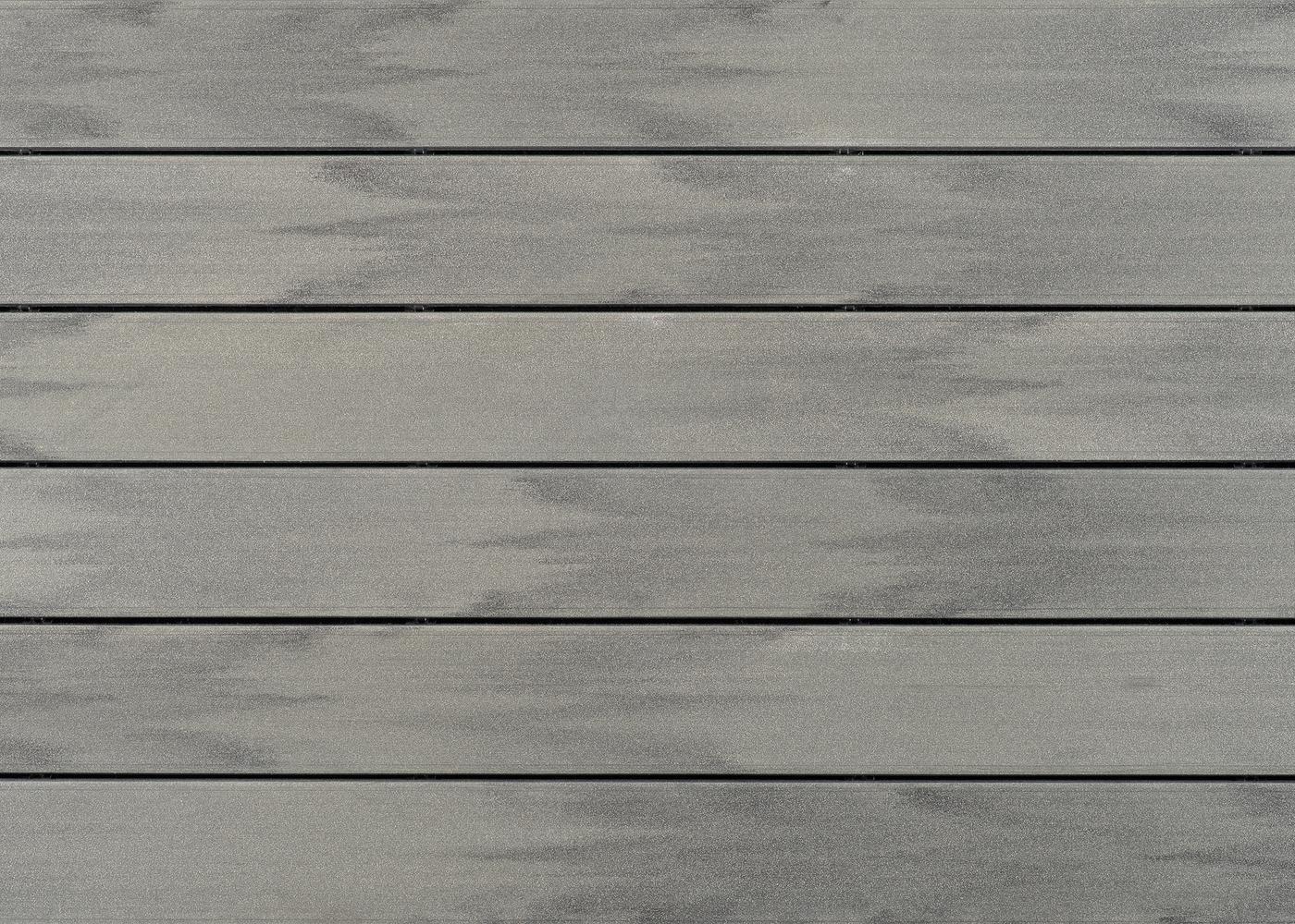 Bois Composite Teinte Emotion Gris Taïga Fixation Invisible Lisse 23x138x4000