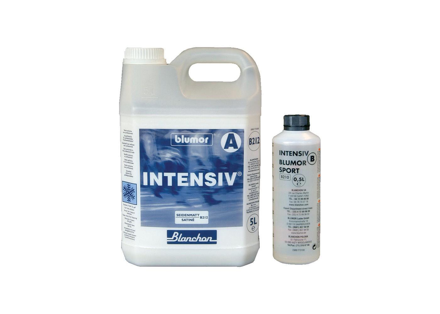 Vernis Intensiv aqua bi-composant polyuréthane Blanchon effet Satiné - Gloss 49/50 4,5 + 0,5 L