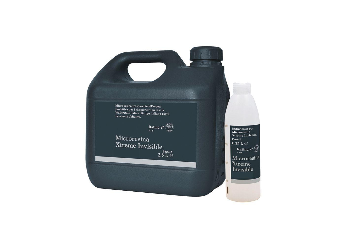 Vernis bi-composant XTREME INVISIBLE pour parquet Retina Indus Gris, Blanc ou Noir 2,5 + 0.5 L