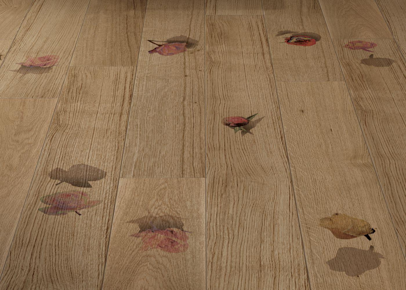 Rosae 1 - Parquet Contrecollé Chêne PR Bis Contemporain Vernis Brossé Mat Teinte Naturelle - Design Rosae 1 - (Cinzia Anguissola )