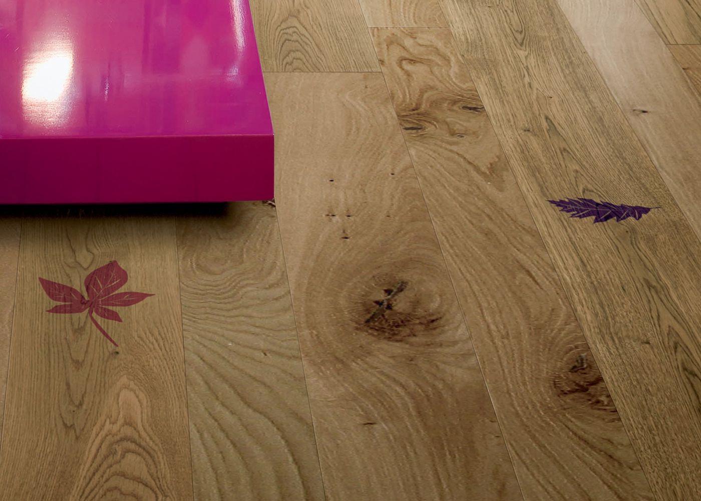 Parquet Contrecollé Monolame Chêne G4 PR Bis Contemporain Vernis Brossé Mat Teinte Naturelle (b5)- Design Imprinting 1 - (marco Ferreri )- Pefc - Fsc