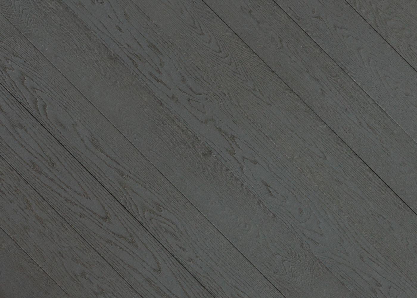 Parquet Contrecollé Monolame Chêne G4 Prbis Contemporain Vernis Brossé Mat Teinte Grise (e8)- Pefc - Fsc 13x150