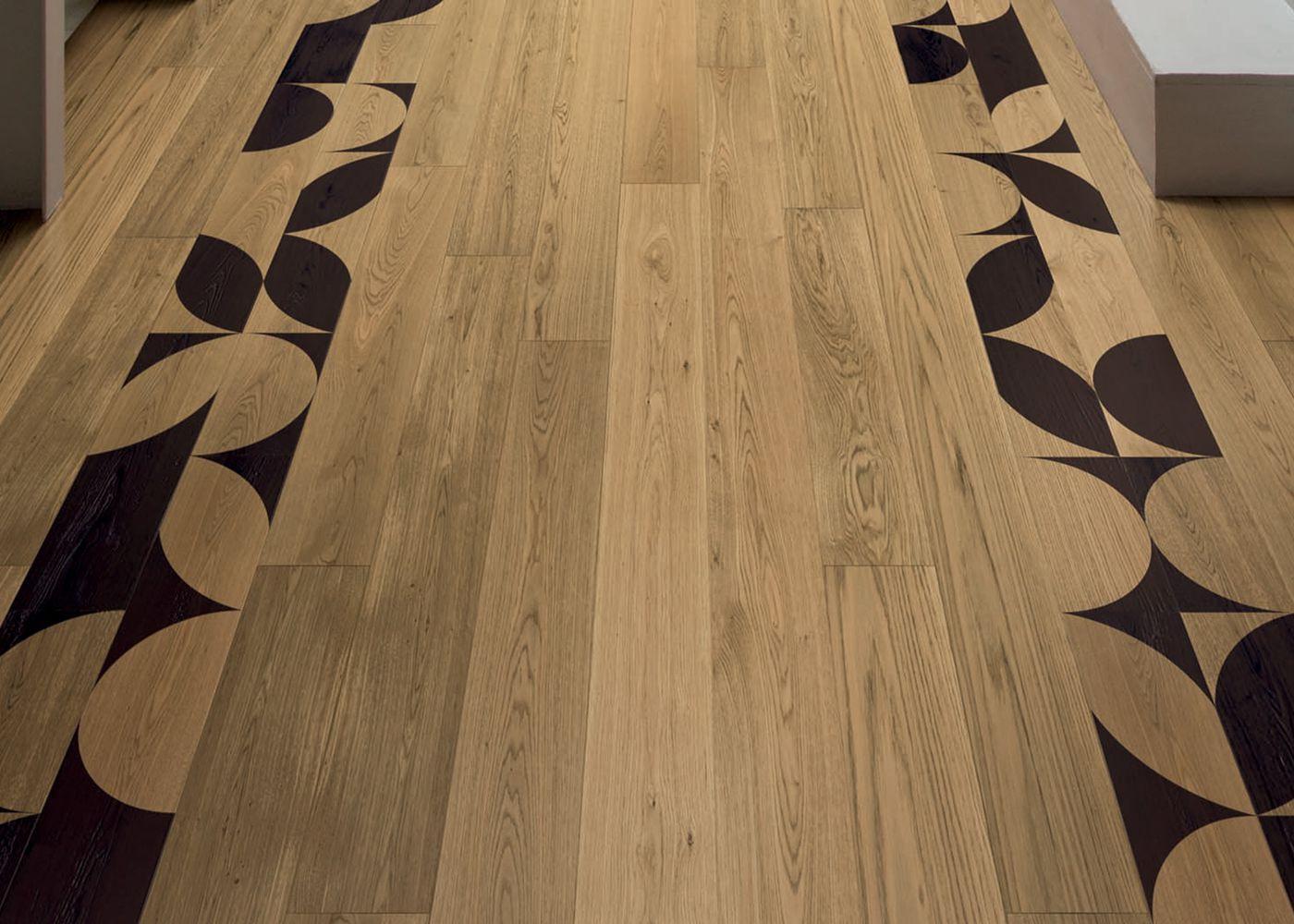 Parquet Contrecollé Monolame Chêne G4 PR Bis Contemporain Vernis Brossé Mat Teinte Naturelle (b5)- Design Geometrico 1 (luca Scacchetti )- Pefc - Fsc 13x150x1500