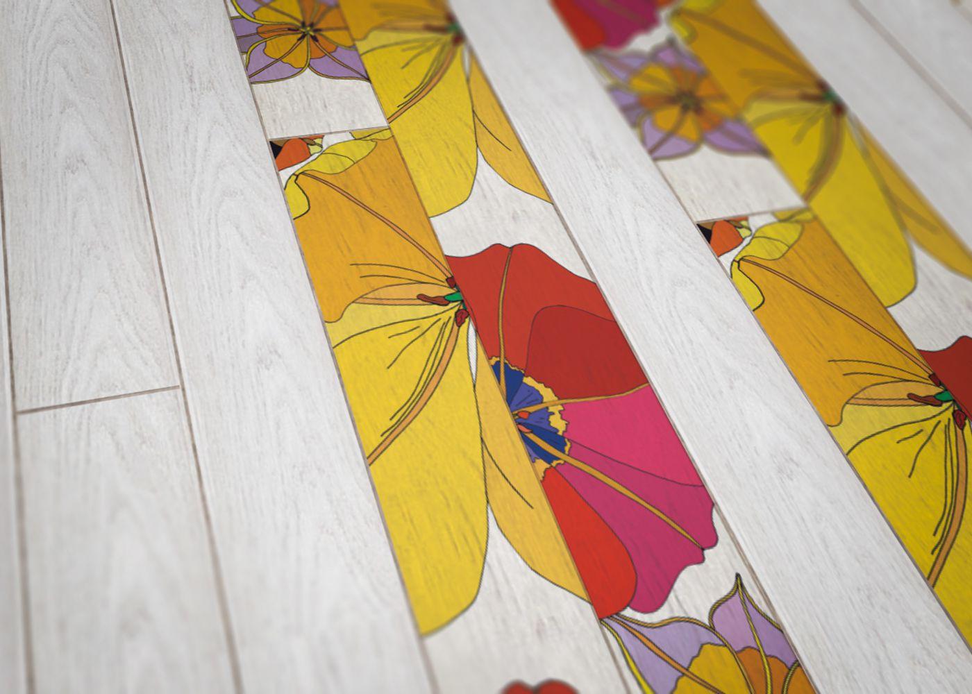 Parquet Contrecollé Monolame Chêne G4 PR Bis Contemporain Vernis Brossé Mat Teinte Blanche (sw)- Design Tulipae Gemini 2 (van Der Hist )- Pefc - Fsc 13x150x1500