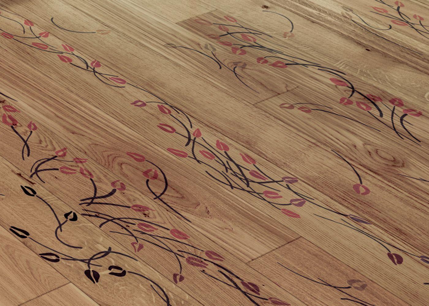 Parquet Contrecollé Monolame Chêne G4 PR Bis Contemporain Vernis Brossé Mat Teinte Naturelle (b5)- Design Tulipae Minor 1 - (van Der Hilst )- Pefc - Fsc
