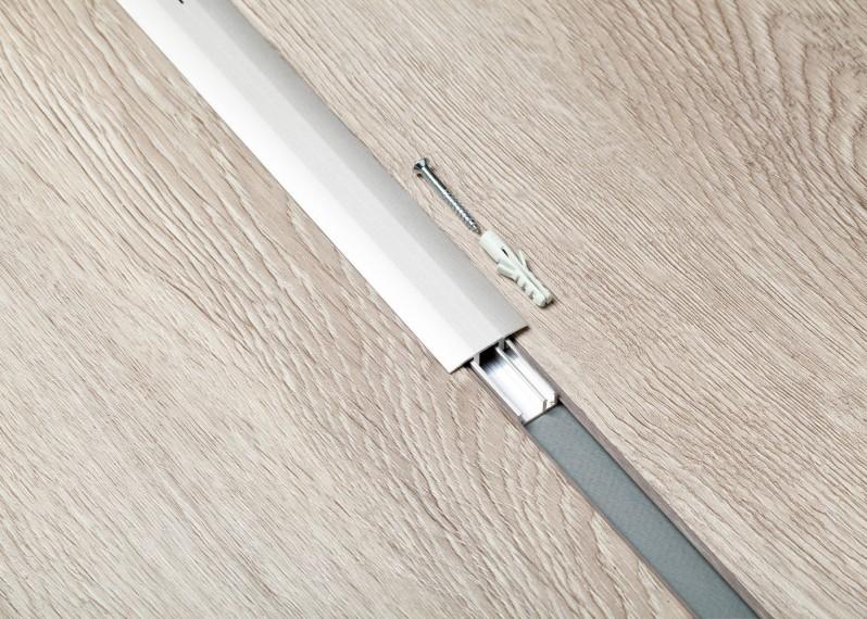 Barre de jonction pour sol vinyle LVT, support aluminium , couleur argent, bronze ou champagne